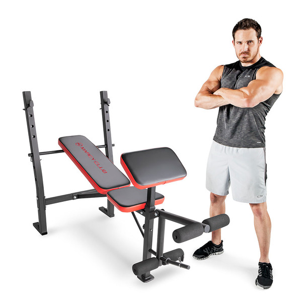 The Marcy Standard Weight Bench MKB-4873 will help you gain muscle and build strength