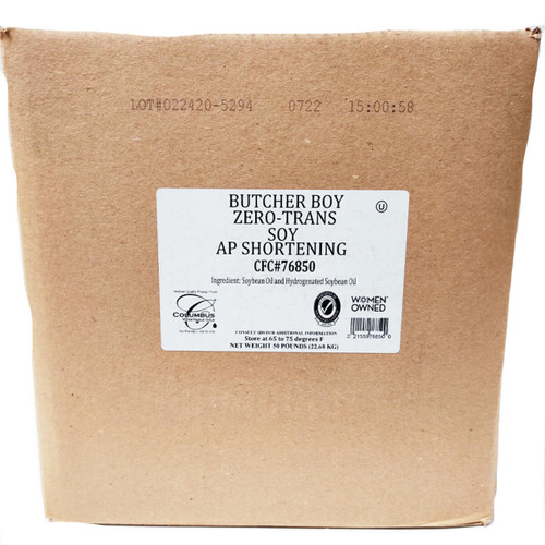 Butcher Boy All Purpose Soy Shortening - 50lb