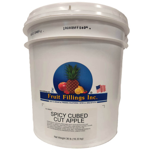 Fruit Filling Apple Turnover Spicy Cubed Filling - 36lb