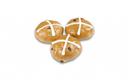 Large Traditional Hot Cross Buns 200/2.25oz