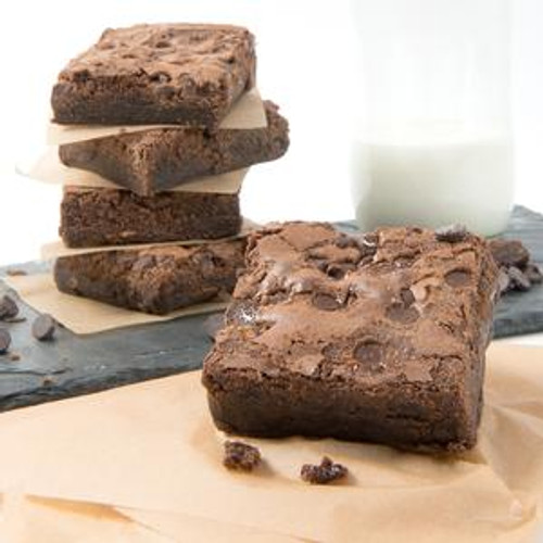David's Thaw and Serve Chocolate Chip Brownie - 2/24ct Trays