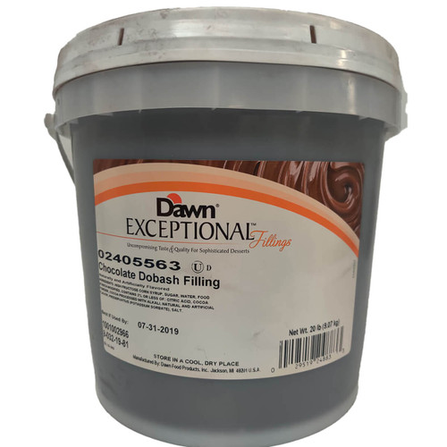 Dawn Foods Exceptional Chocolate Dobash Filling  - 20lbs