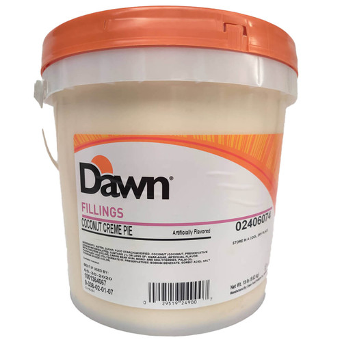 Dawn Foods Coconut Creme Pie Filling - 19lb