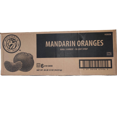 Monarch Mandarin Oranges in Syrup - #10 Can/6ct