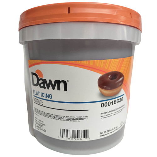 Dawn Foods Flat Chocolate Icing - 24lbs