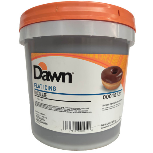 Dawn Foods Flat Chocolate Cold Dip Icing