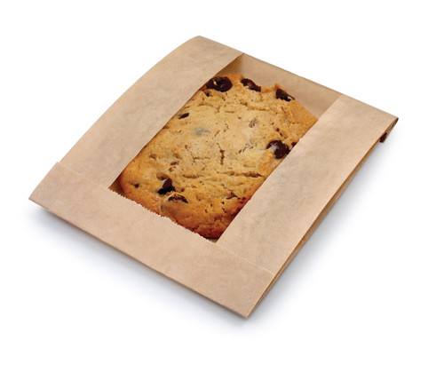 BagCraft Single Serve Kraft Window Bag - 500ct