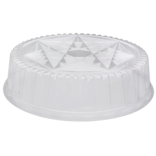 """Pactiv 12"""" ClearView Caterware Plastic Dome"""