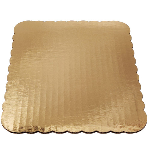 """7.75"""" x 9.75"""" Eighth Gold Scallop Pad - 200ct"""