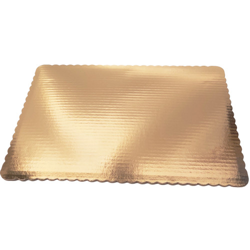 Gold Half Sheet Scallop Pad