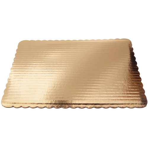 Gold Quarter Sheet Scallop Pad