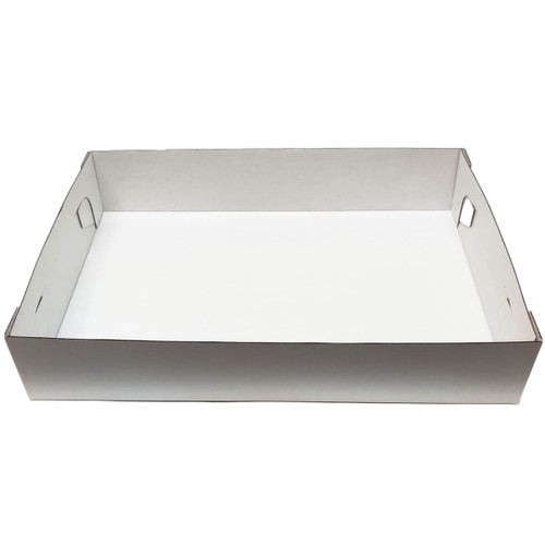 14 x 10 x 4  Quarter Sheet Corrugated Tray - 50ct