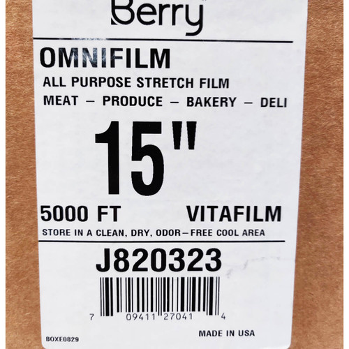 15 in X 5000 ft Omnifilm All Purpose Stretch Film