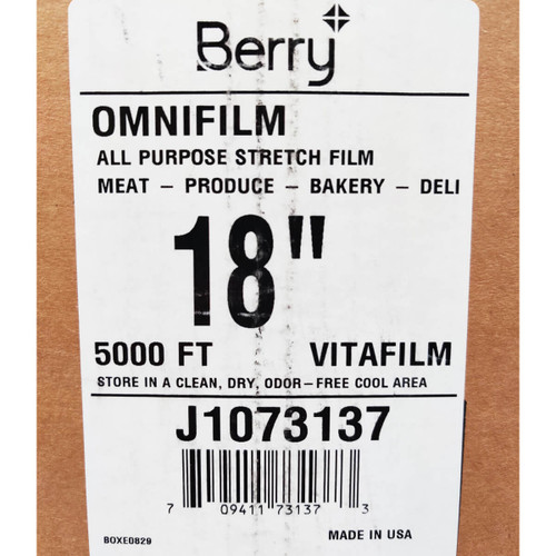18 in X 5000 ft Omnifilm All Purpose Stretch Film