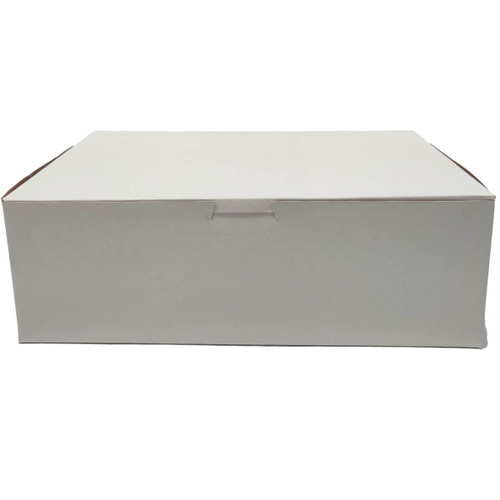 10 3/4 x 6 3/4 x 3 5/8 White Bakery Box