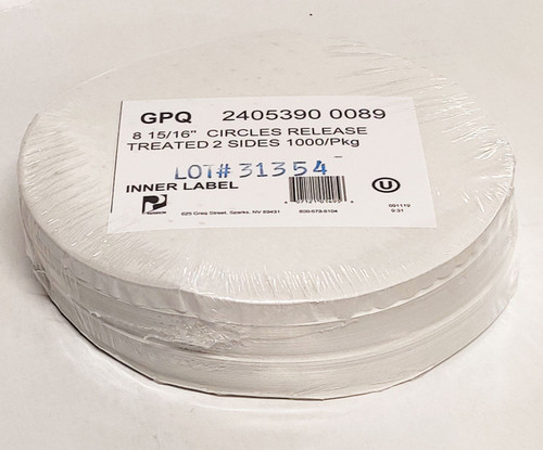 Silicone Treated Parchment Circles