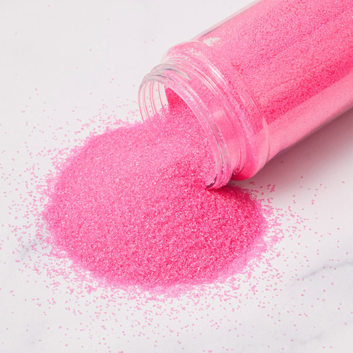 Stover's Sweet Shoppe Pink Sanding Sugar Pour Out
