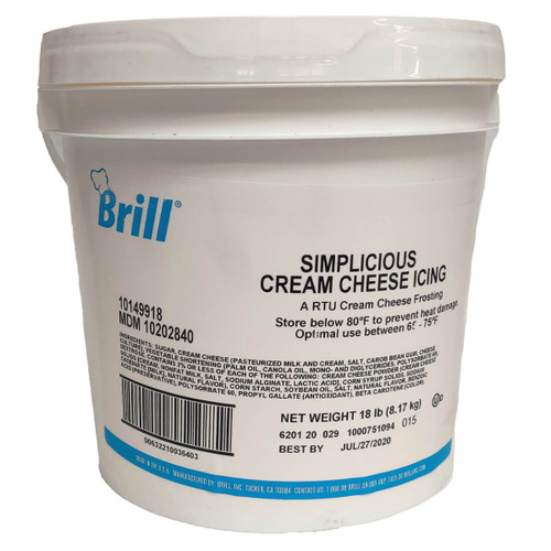 Brill Cream Cheese Icing In A Bucket