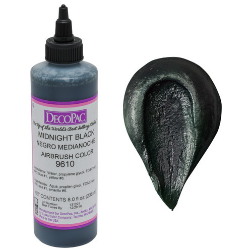 DecoPac Midnight Black Airbrush Color