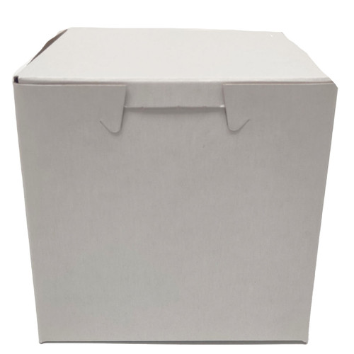 4 x 4 x 4 White Bakery Box