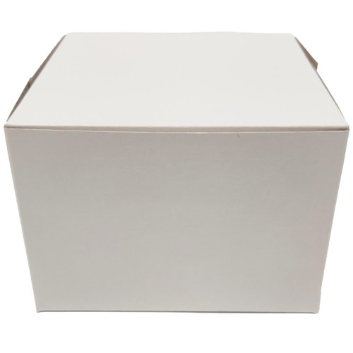 5 1/2 x 5 1/2 x 4 White Bakery Box