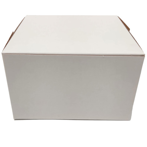 6 1/2 x 6 1/2 x 4 White Bakery Box