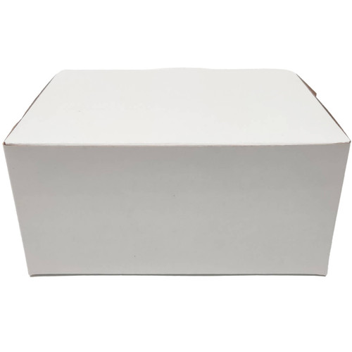 8 x 5 1/2 x 3 White Bakery Box