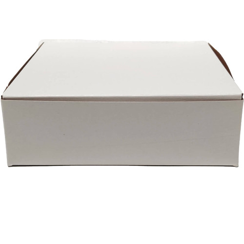 8 x 5 1/2 x 4 White Bakery Box