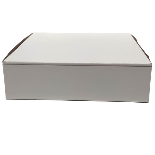 9 X 9 X 1 1/2 White Bakery Box