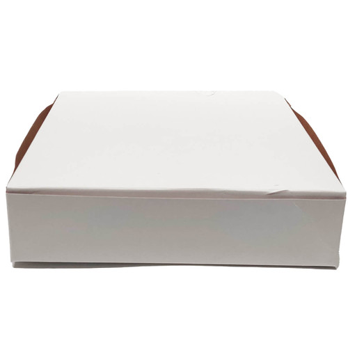 10 X 10 X 2 1/2 White Bakery Box - 250/ct