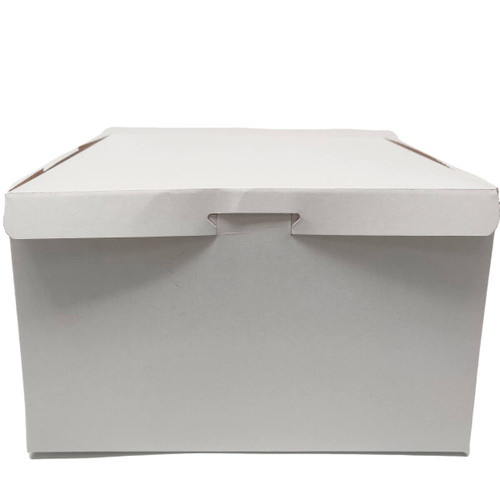 10 X 10 X 6  White Bakery Box - 100/ct