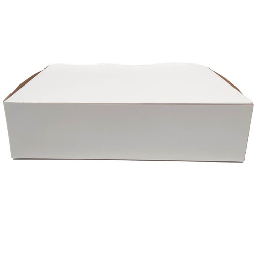 10 1/2 X 7 1/2 X 2 3/4 White Bakery Box