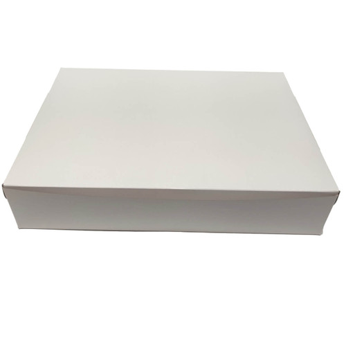19 X 14 X 4  White Bakery Box