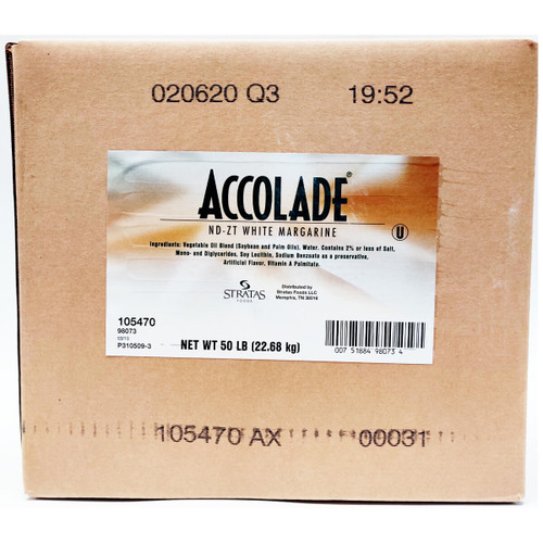 Accolade White Margarine - 50lb