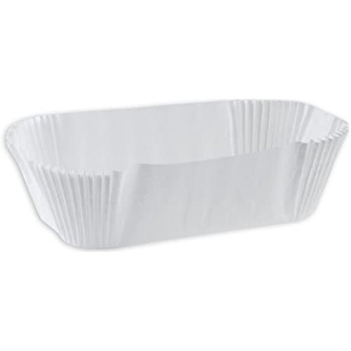 Eclair White Baking Cup