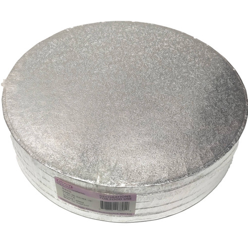 "10"" Silver Cake Drums"