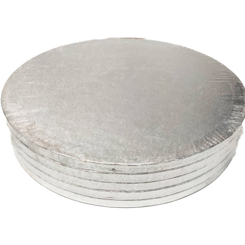 "12"" Silver Cake Drums - 5 pack"