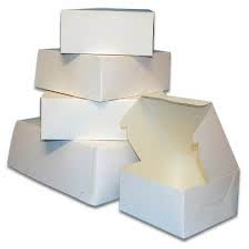24 X 14 X 4  White Bakery Box - 50/ct