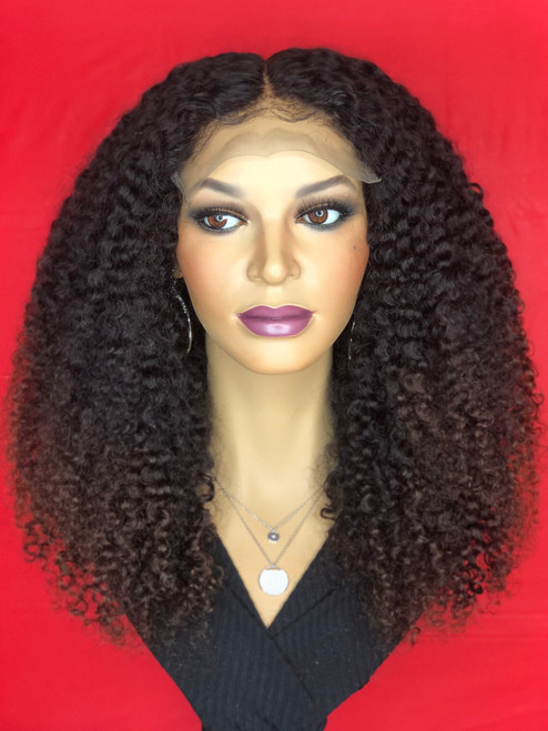 TreBella Afro Kinky Curly Closure unit w/auburn tips