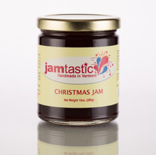 Cranberries, Strawberries, Madagascar Vanilla, Cinnamon, Nutmeg, Allspice and Cloves! This tastes just like Christmas and I am not kidding! It's a memory jam! Wonderful served with cream cheese and crackers or as a condiment with turkey, ham or just about anything!