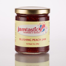 One of our newest concoctions for 2017, our Blushing Peach Jam is perfect for your morning scone, muffin or mixed into your favorite plain yogurt! Beautiful color and texture with just the right amount of juicy ripe peaches and raspberries, this is a great flavor to be enjoyed anytime of day! Already a best seller at farmer's markets, it's sure to be at the top of your list too!