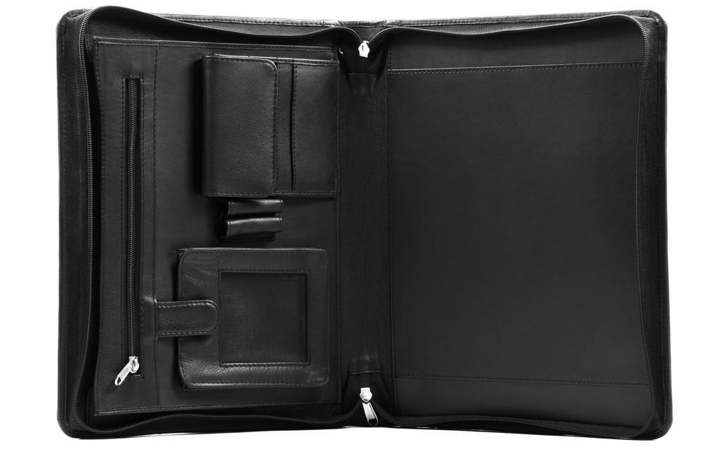 Ashlin® DESIGNER   AFONSO Zippered Portfolio, SmartPhone Pocket, 2 Pen Loops   Tuscany cowhide   [P8338-18]