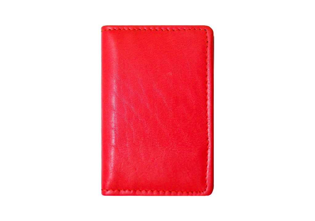 Ashlin® DESIGNER | FRANCOIS RFID BLOCKING Business Card Holder, Gusseted with ID section | Pebbled cowhide leather | [RFID6036-48]