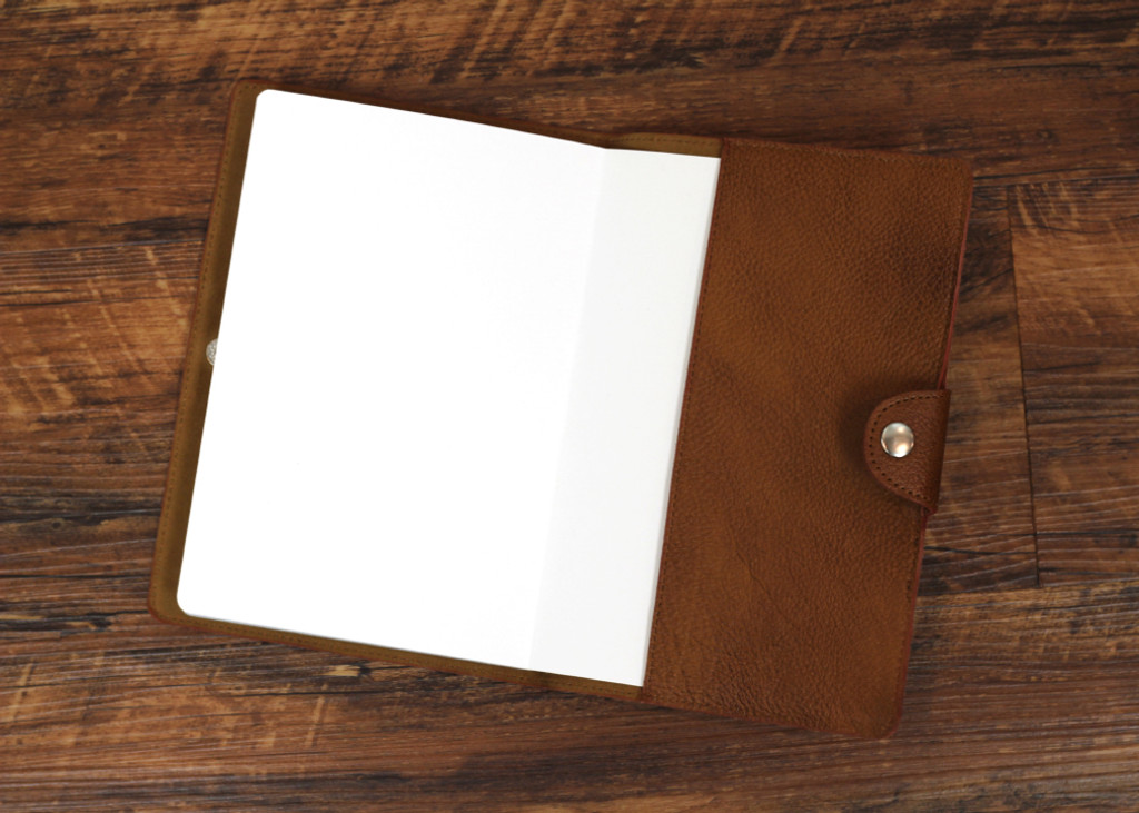 Ashlin® DESIGNER | PORCHIA Medium Journal with Snap | Pebbled cowhide leather | [P9088-48]
