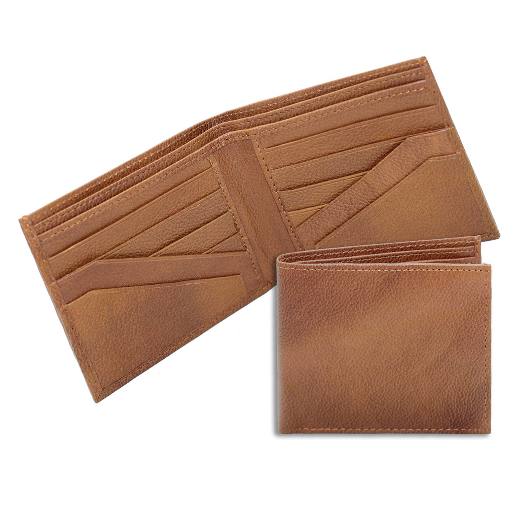 Ashlin® DESIGNER | ALESSANDRO Mens Wallet with Angled Pockets | Pebbled cowhide leather | [7728-48]