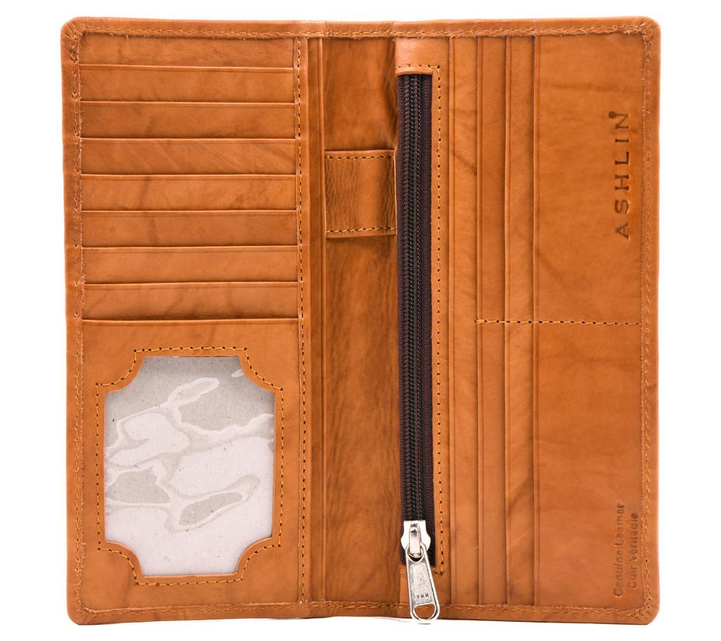 Ashlin® DESIGNER | AIDAN Slim 12 Card Pocket Wallet with ID Slot | Tuscany cowhide | [7517-18]