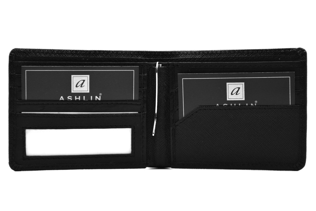 Ashlin® DESIGNER | TRENCH 6 card Bi-Fold Money Clip Wallet  | [7766-52]