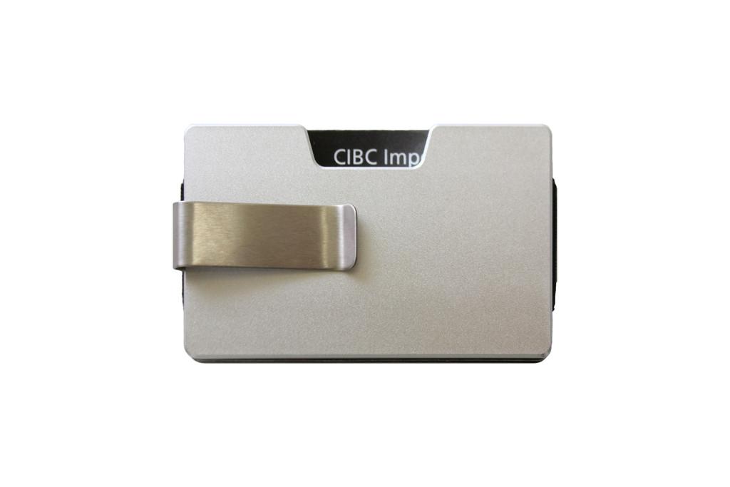 Ashlin® DESIGNER   VALLEY RFID case - Minimalist Sleek Design 7969-S-SILV