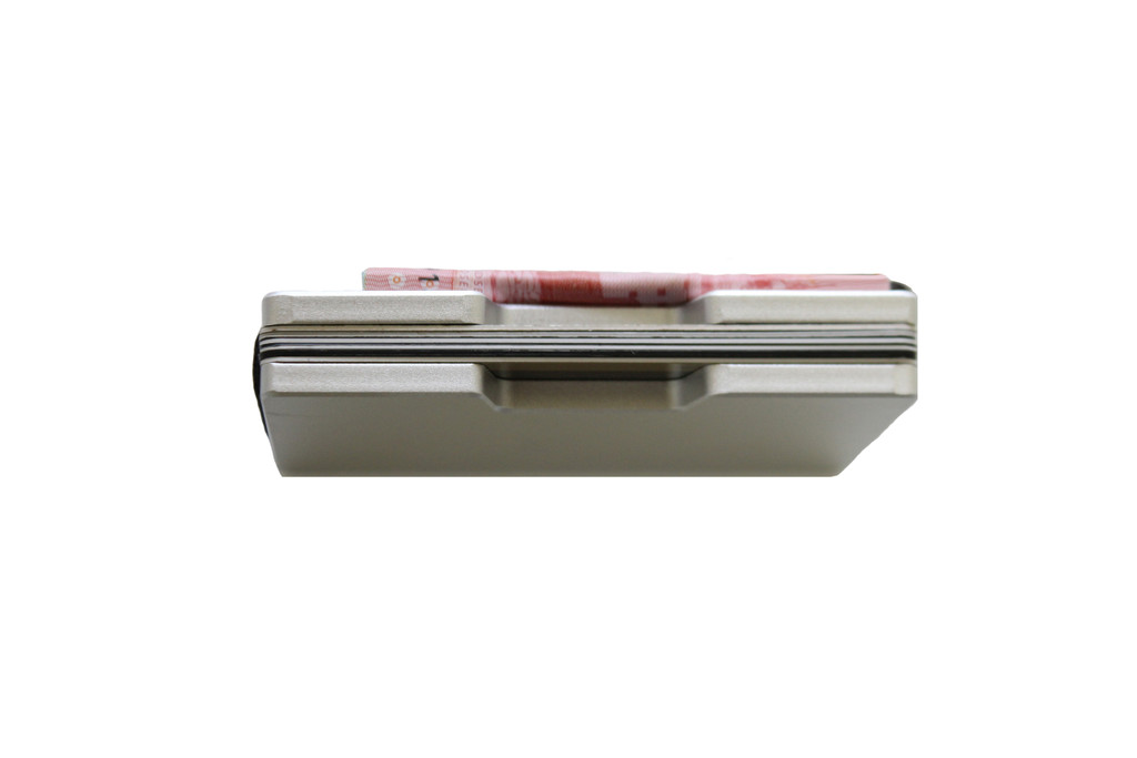 Ashlin® DESIGNER   VALLEY RFID case - Minimalist Sleek Design 7969-S-SILV BASE 3