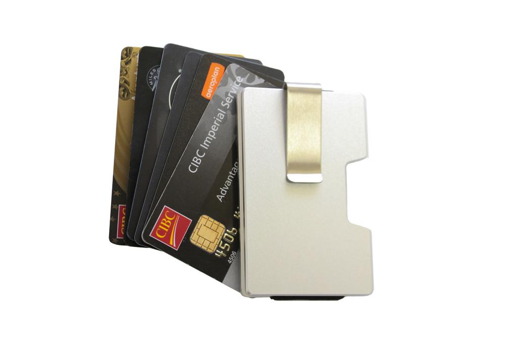 Ashlin® DESIGNER   VALLEY RFID case - Minimalist Sleek Design 7969-S-SILV BASE 1
